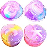 SWZY New Slime Moon & Star Mix Color Cloud Puff Slime Putty Scented Crystal Mud Toy...