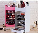D POLARA Makeup Cosmetics Storage Rack Lipstick Nail Polish Creative Trapezoidal Cosmetics Care Products Multi Layer Storage Box (1 Piece)