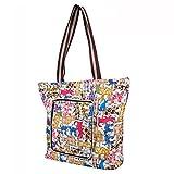 Millya - Bolsa para compras grande, creativa, impermeable y plegable. bolsa de viaje reciclable con bolsillo lateral., Oxford, Cartoon, large