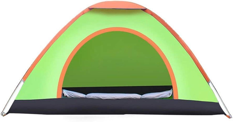 60% de descuento XSWZAQ Portátil Plegable Plegable Plegable de un Segundo Tienda de Tela de contracción al Aire Libre 1 Persona Anti-Mosquitos Dormitorio Almacenamiento Multi-función de Velocidad del Viento Abierto (Color   verde)  tienda de descuento