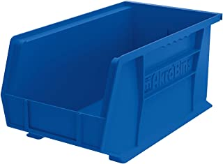 Akro-Mils 30240 AkroBins Plastic Storage Bin Hanging Stacking Containers, (15-Inch x 8-Inch x 7-Inch), Blue, (12-Pack) (30240BLUE)