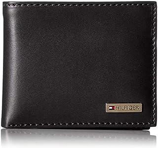 Tommy Hilfiger Leather Men Multi Card Passcase Bifold Wallet Black