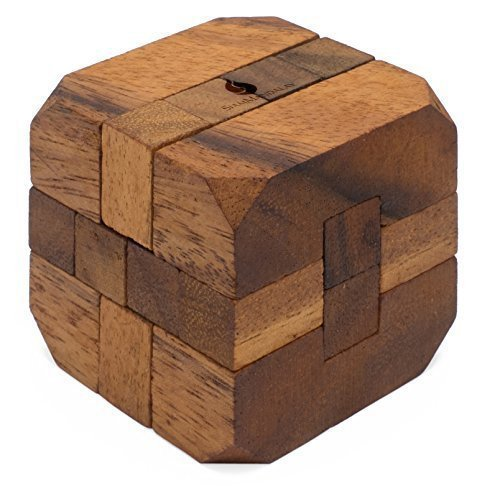 Hidden Passage: Wooden Puzzles for Adults - 3D Brain Teaser Interlocking Game Handmade Organic Educational Problem-Solving Game for Adults & Children. Corporate Desk Accent for Office.