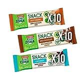 Enerzona Snack Variety Pack ● 30 Barrette da 33g ● 10 Caramello + 10 Cioccoalto al Latte + 10 Cocco
