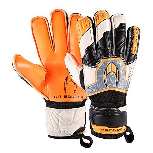 HO Soccer Basic Protek Flat Orange Legend Guantes De Portero, Unisex niños, Naranja/Blanco/Negro, 3,5