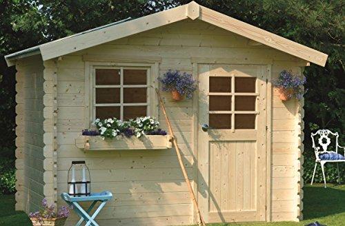 Gartenhaus Kesseldruckimprägniert Betula S877-1 - 28 mm Blockbohlenhaus, kesseldruckimprägniert, Grundfläche: 8,88 m², Satteldach