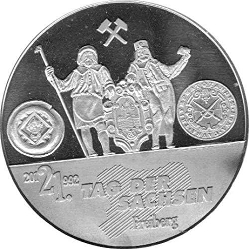 Medaille  Tag der Sachsen - 2012 Freiberg Spiegelglanz, Silber 999