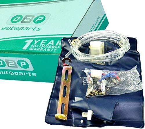 D2P Parabrisas arandela Jet Fluid Bolsa Botella/Tanque/Bomba 12 V 1.0Ltr Kit Coche/Hotrod/4 x 4