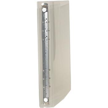 A5 6穴 保存バインダー-R15-透明-ホワイト-HB-3001-CL