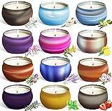 Velas perfumadas,12 series de constelaciones 12 pack regalo de velas aromaticas,velas cera de soja natural,aromaterapia decoración para relajación fiesta boda baño yoga de san valentín regalos