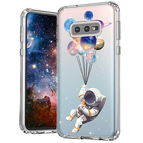 MOSNOVO Galaxy S10e Case, Astronaut Planet Pattern Clear Design Printed Transparent Plastic Back Hard Case with TPU Bumper Protective Case Cover for Samsung Galaxy S10e