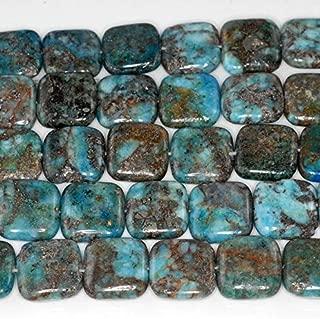 12MM Blue Lagoon Pyrite INCLUSIONS Quartz Gemstone Square Loose Beads 16 BD-2065