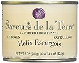 Helix Extra Large Escargot (18 piece) by Saveur de La Terre (7 ounce)