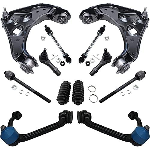 Detroit Axle - Torsion Bar Suspension Front Upper Control Arms + Tie Rods + Sway...