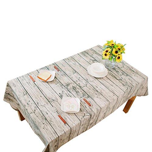 JUNGEN Nappe de Lin en Coton rectangulaire Tissu de Table à Manger à Rayures Bois Napperon pour Maison Café Restaurant Nappe Propre Style Simple Multi-usages intérieur et extérieur 40 * 60cm
