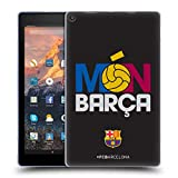 Official FC Barcelona Mon Barca Campions Soft Gel Case Compatible for Amazon Fire HD 10 (2017)