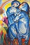Poster 61 x 91 cm: Der Turm der blauen Pferde von Franz