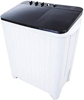 Toshiba Twin Tub Washing Machine, 9 Kg, Top Loading, Black - VH-B1100WBB-WK
