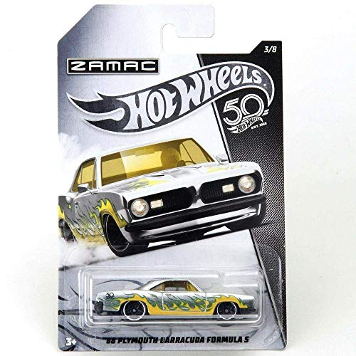 Hot-Wheels 68 Plymouth Barracuda 50th Anniversary Zamac 3/8