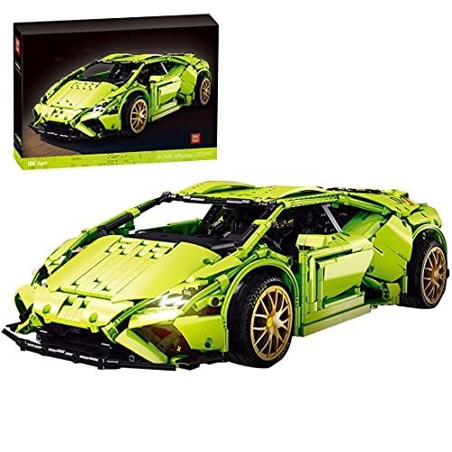 SENG Technik Sportwagen Bausatz, 2285 Teile Bausteine Auto Rennwagen Modell Klemmbausteine Bauset Kompatibel mit Lego
