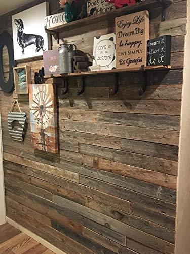 Wandverkleidung aus recyceltem Scheunenholz, Dielen für Akzentwände (1 Quadratfuß) - 4