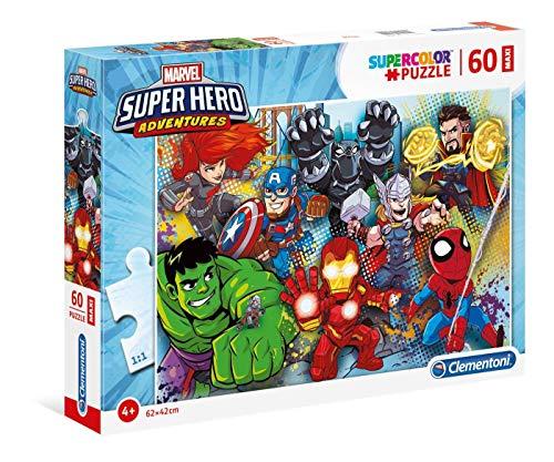 Clementoni - 26454 - Supercolor Puzzle - Marvel Super Hero Avengers - 60 Maxi Pezzi - Made In Italy - Puzzle Bambini 4 Anni +