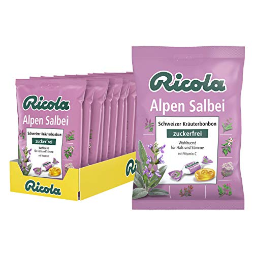 Ricola Salbei Bonbons ohne Zucker, 18er Pack (18x 75 g)