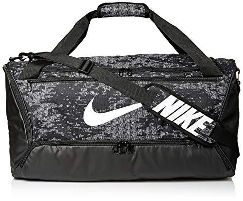 Nike Unisex BRSLA Duff 9.0 AOP Sporttasche Black/Black/White 1size