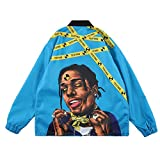 NAGRI ASAP Rocky Testing Hip Pop Jacket Long Sleeve Windbreaker Graphic Lightweight Coat Blue rain jacket for men Dec, 2020