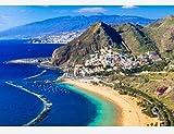 Ompecabezas De 1000 Piezas Para Adultos Playas De La Isla De Tenerife Art Painting Puzzle Decoración Rompecabezas Educativos Juegos De Bricolaje Brain Challenge Puzzle Sets