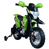 Aosom Cruising Kids Dirt Bike Electric Motorcycle with Charging 6V Battery, Real Driving Sounds, & Built-in Music, Green