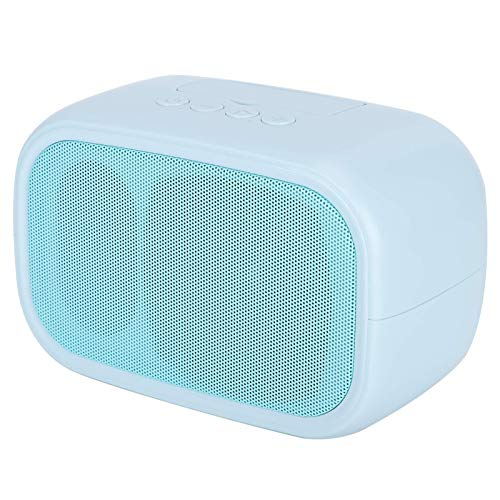 TWS Mini Portable Wireless Bluetooth5.0 Speaker, 2 Channels Powerful Stereo Sound Speaker for Computers Phones and Tablets, Subwoofer Speaker with Phone Holder(blue) (Color : Blue)
