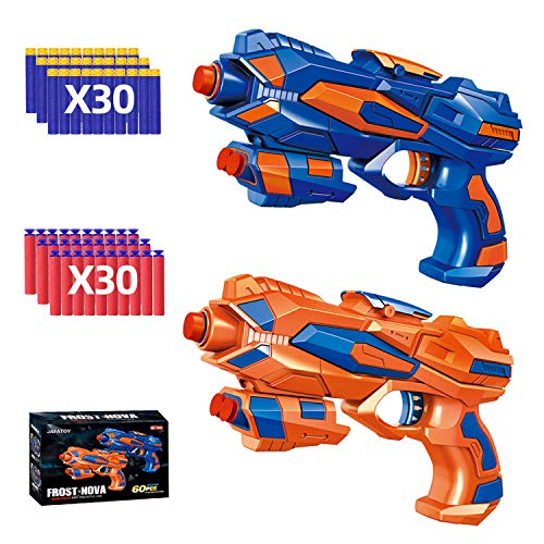 Jafatoy 2 Pack Blaster Guns Toy for Kids 5 - 12 Year Old Boy Girl Indoor Outdoor Playing with 60...