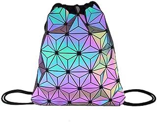 حقائب ظهر نسائية برباط حقيبة ثلاثية الأبعاد حقيبة ظهر نسائية لامعة هندسية للمراهقات حقيبة مدرسية حقائب الشاطئ