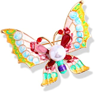 N/W Enamel Butterfly Pin Jewelry Colorful Butterfly Insect Brooches For Women Banquet Costume Pins Accessories