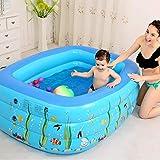 NHNX Aufblasbarer Pools Aufblasbarer Familienpool, Kinderpool Schwimmbecken, Aufblasbarer Lounge-Pool In Voller Größe Gartenpool Außenpools Schwimmzentrum Für Babys, Kinder, Erwachsene, Blau