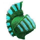 Laisla fashion Casque De Chevalier Drôle Bonnet Barbe Cap Classique Main Chapeau De Poulpe De Chapeau d'hiver Tricoté Masque De Ski Halloween Cosplay (Color : Green, One Size : One Size)