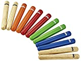 Nino Percussion Claves - Multi-colored - 6 Paar