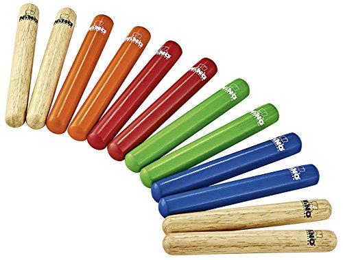 Nino Percussion Claves - Multi-colored - 6 Paar (NINO502-MC)