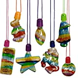 ArtCreativity Sand Art Bottle Necklaces Assortment for Kids, Bulk Pack of 60, Collection of Sand Art Craft Bottle Necklaces, Fun Party Supplies & Favors for Boys and Girls - Sand Sold Separately