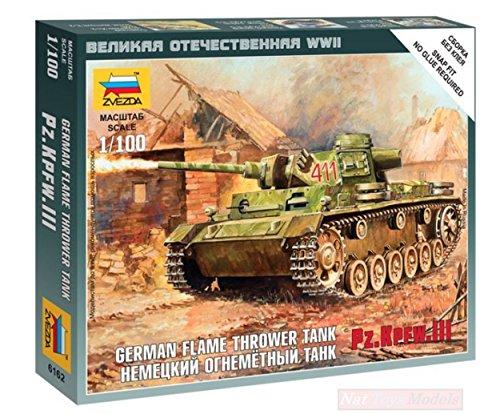 Zvezda Z6162 Panzer III FLAMETHROWER Kit 1:100 MODELLINO Model Compatible con
