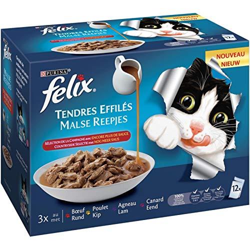 Animalerie Felix - Tendres Effilés Encore Plus De Sauce 1020G - Lot De 3