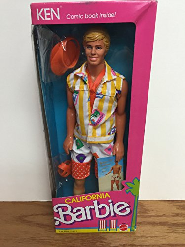 California Barbie - Ken Doll with Comic Book - Model 4441