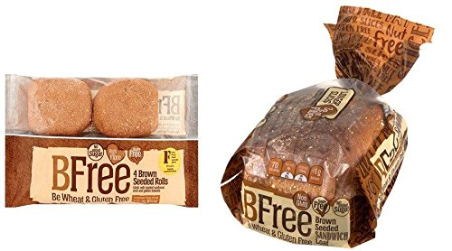BFree Gluten Free Variety Pack Seeded Brown Rolls and Seeded Brown Bread, 2 Packs Each, Vegan, Egg Free, Soy Free, Nut Free, Dairy Free