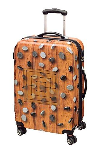 Koffer-Reise-Trolley-Reisekoffer-Hartschale-L-Mittel-69- Brettspiel Mühle-Inkl. Figuren-Bowatex