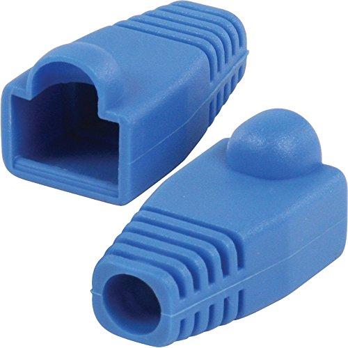 100 x RJ45 CAT5e CAT6 Kabel Crimp Bezug blau Motorradstiefel-Ethernet Stecker EUROSTECKER Spurstange - 2