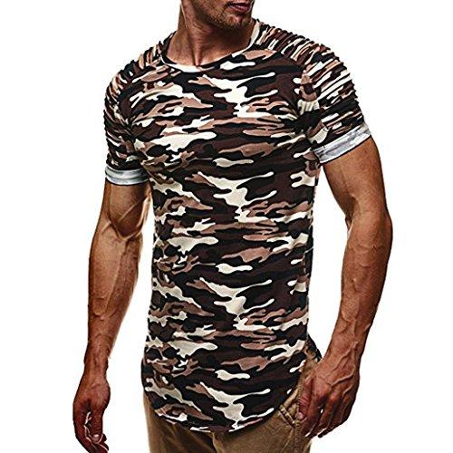 Herren Camouflage T-Shirt Army Military Shirt Bundeswehr Tarnfarben Kurzarmshirt Männer T-Shirt Figurbetont Athletic Tank Top Tankshirt T-Shirt Muskelshirt (Gray, XL)