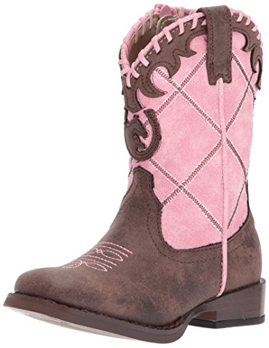 Roper Girls Cowboy Western Boot, Pink, 5 Big Kid
