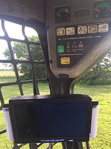 Skid Steer Backup Camera + MOUNTING ARM for Reverse Backing UP FITS Bobcat KUBOTA New Holland CASE Back UP