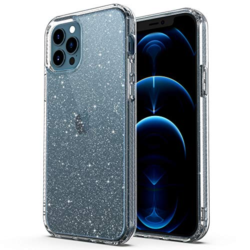 ULAK Funda Compatible para iPhone 12 Pro MAX, Carcasa a Prueba de Golpes de Estuche Parachoques de Resistente Caso de protección Suave de TPU para iPhone 12 Pro MAX 6,7 Pulgada 2020 - Brillo Claro